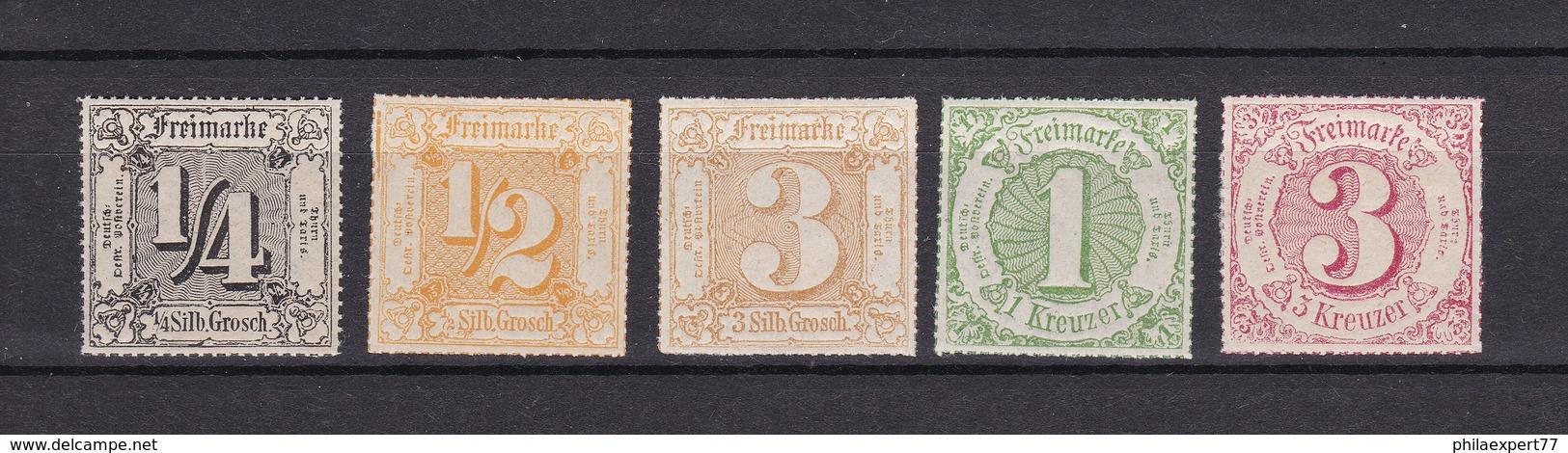 Thurn Und Taxis - 1866 - 45, 47, 50, 51/52 - 29 Euro - Thurn Und Taxis