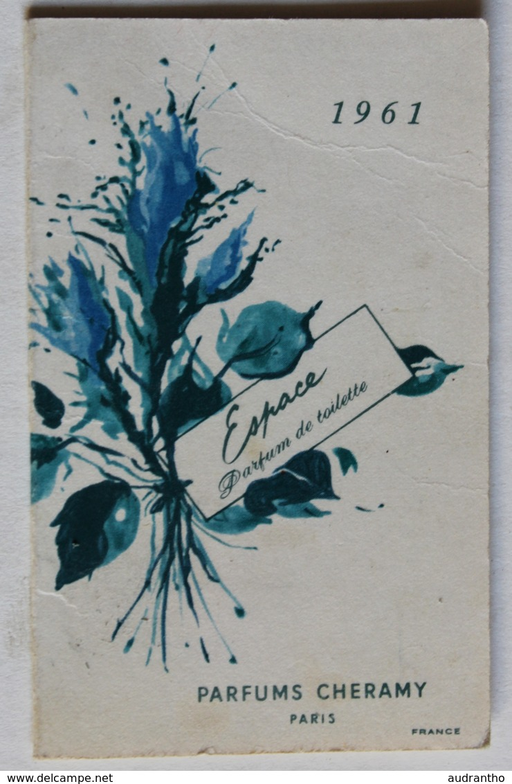 Calendrier 1961 Parfums Cheramy Paris Coiffeur Bernadette 35 Rue D'Orléans Trouville - Petit Format : 1961-70