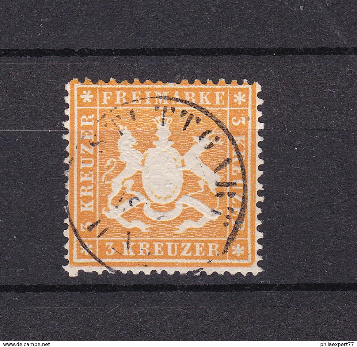Wuerttemberg - 1860 - Michel Nr. 17 X C - BPP Gepr. - Wuerttemberg