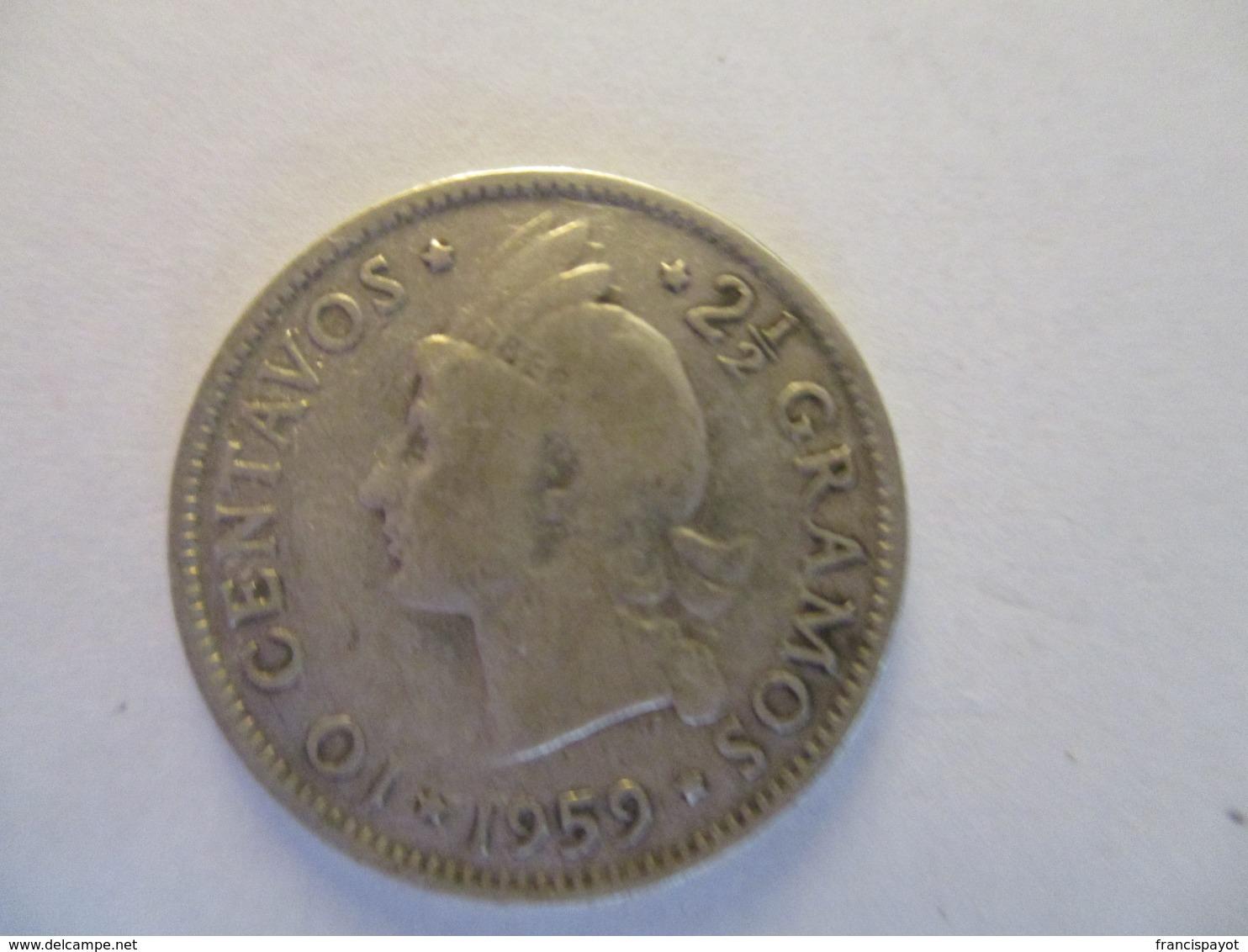 République Dominicaine: 10 Centavos 1959 - Dominicaine