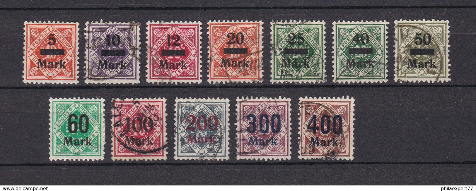 Wuerttemberg - Dienstmarken - 1922/23 - Michel Nr. 159/170 - 45 Euro - Wuerttemberg