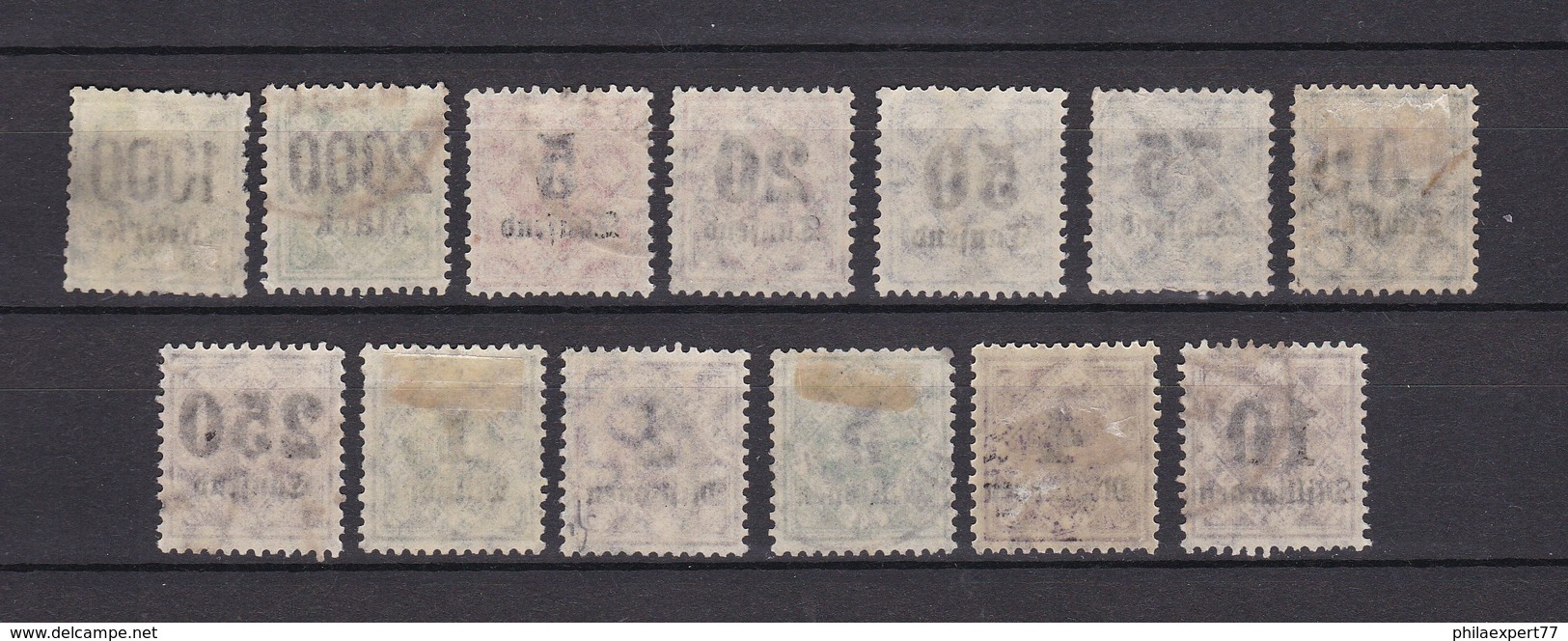 Wuerttemberg - Dienstmarken - 1923 - Michel Nr. 171/183 - 117 Euro - Wuerttemberg