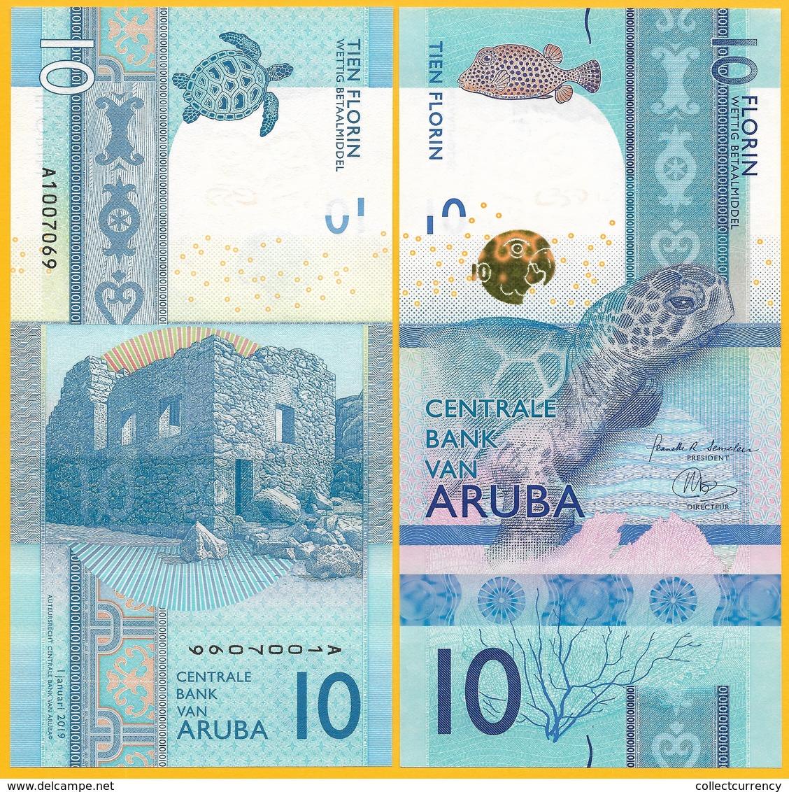 Aruba 10 Florin P-New 2019 UNC - Aruba (1986-...)