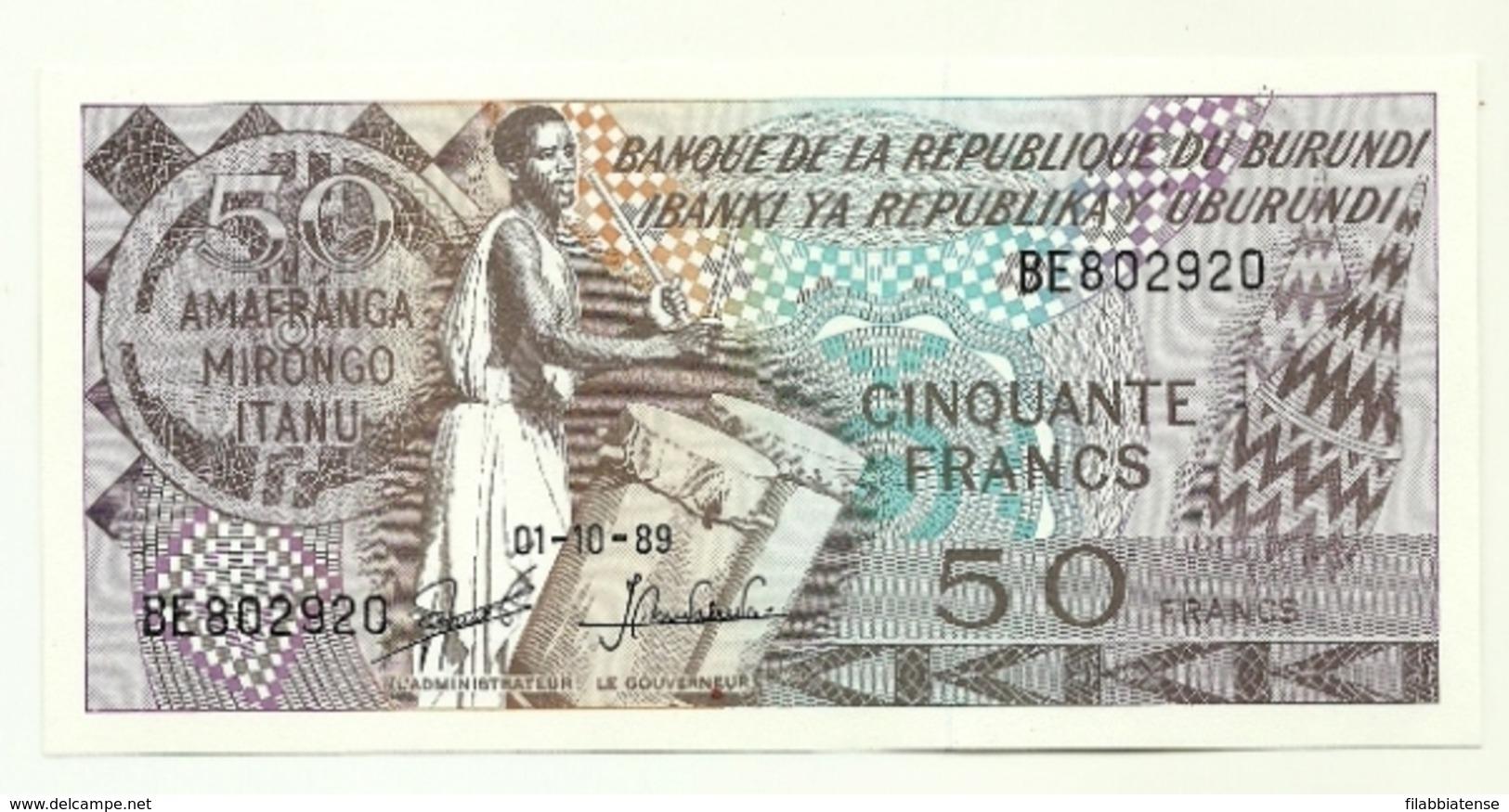 Burundi - 50 Amafranga 1989 - Burundi