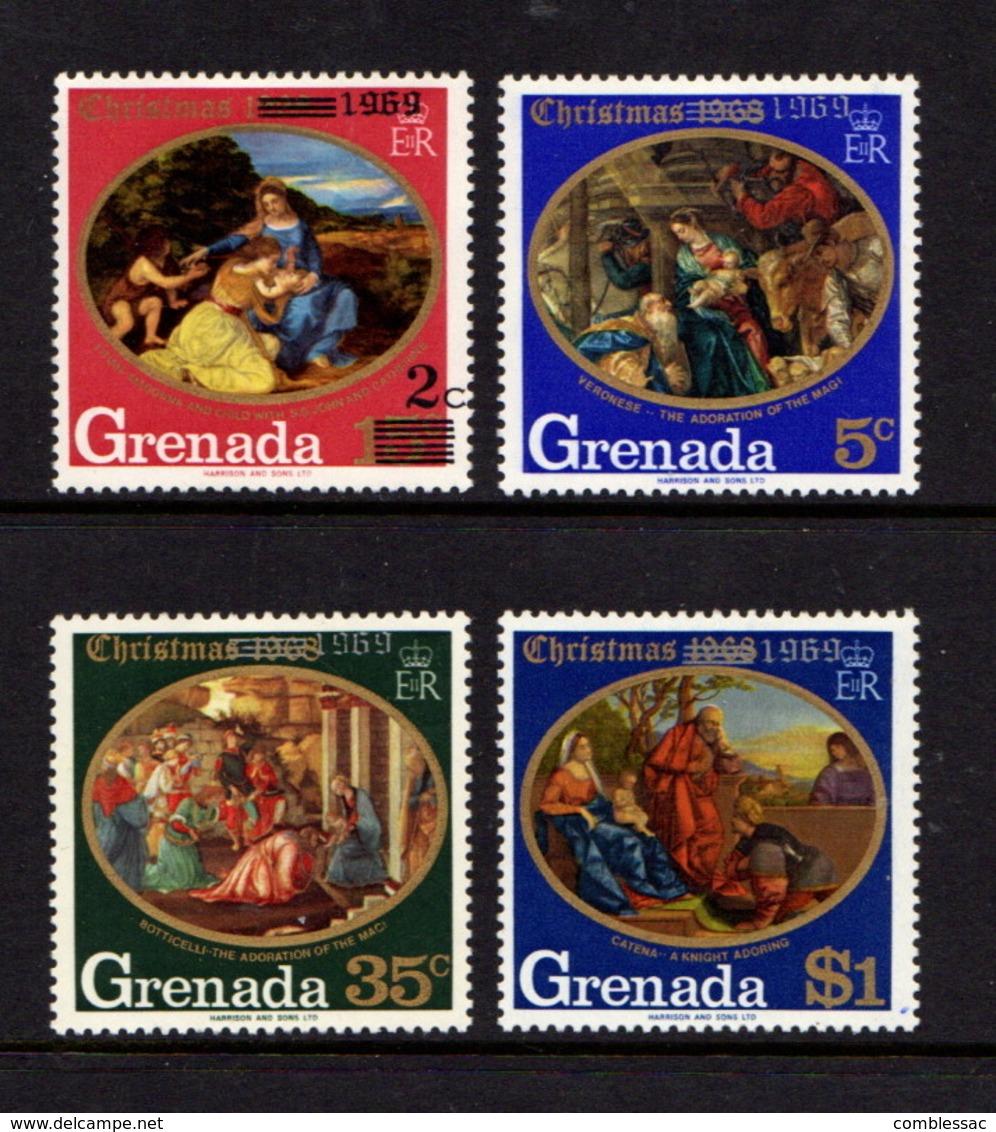 GRENADA    1969    Christmas   Set  Of  4    MH - Grenada (...-1974)