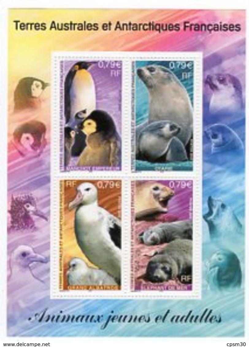 Timbres - Terres Australes Et Antarctiques Françaises - Animaux Jeunes Et Adultes N° 8 (valeur 3.16 Euro) - Blocks & Sheetlets