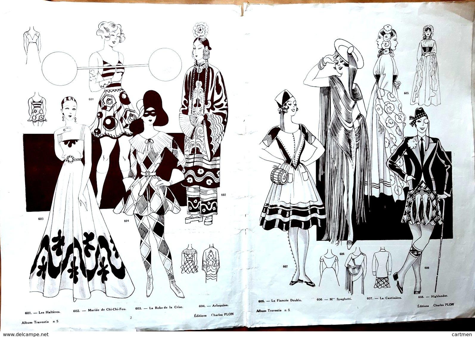 MODE CARNAVAL  ALBUM DE TRAVESTIS CATALOGUE DE 20 PAGES  NOMBREUX COSTUMES ACCESSOIRES  ET DEGUISEMENTS 1920 - Catalogues