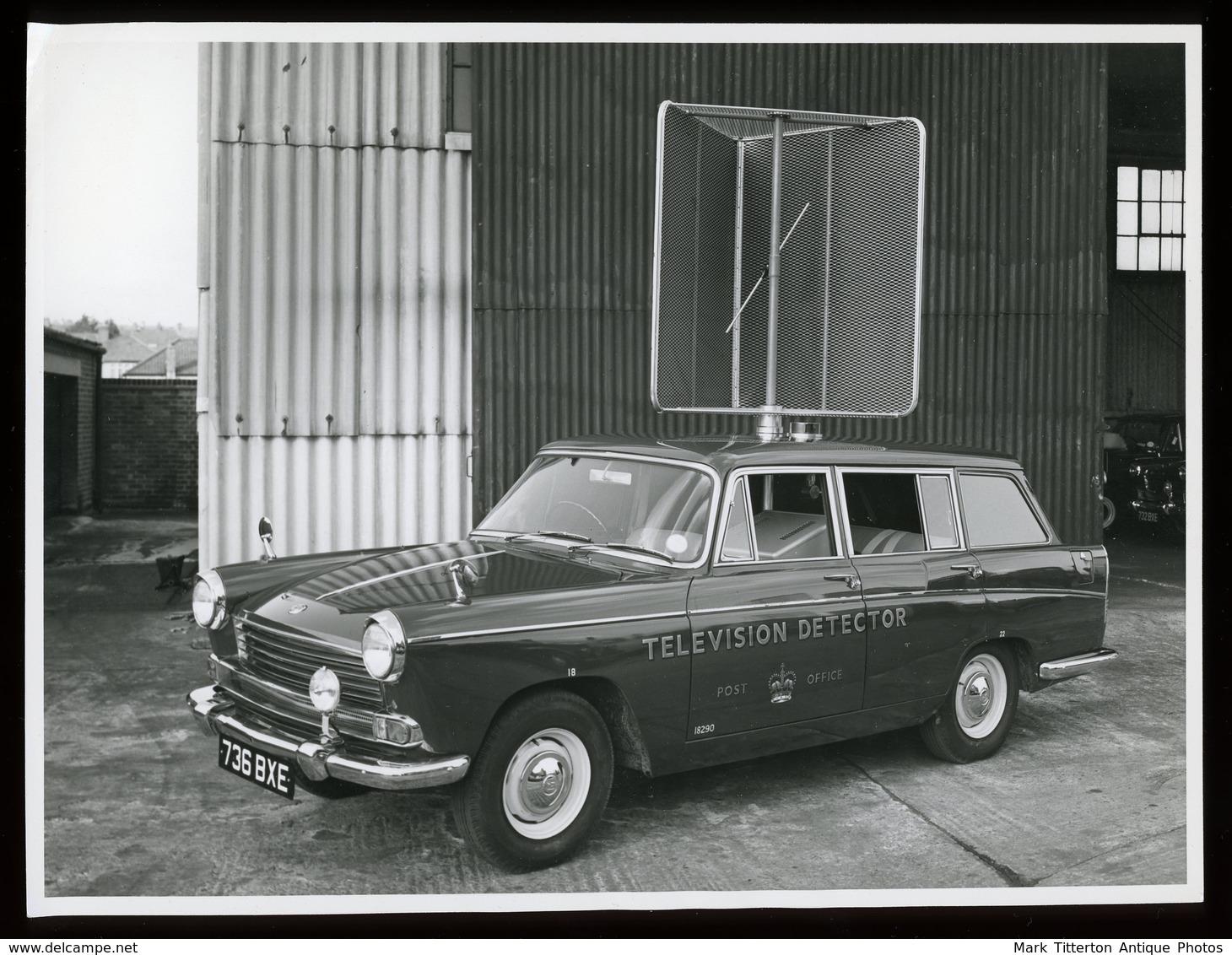 Original Photograph - Post Office Telephones - Television Detector Car - C.1960s (21 X 16cm) - Foto