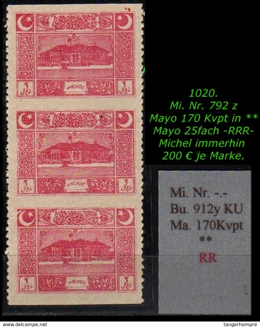 EARLY OTTOMAN SPECIALIZED FOR SPECIALIST, SEE...Mi. Nr. 792 Z - Mayo 17 Kvpt -RR- - Nuevos