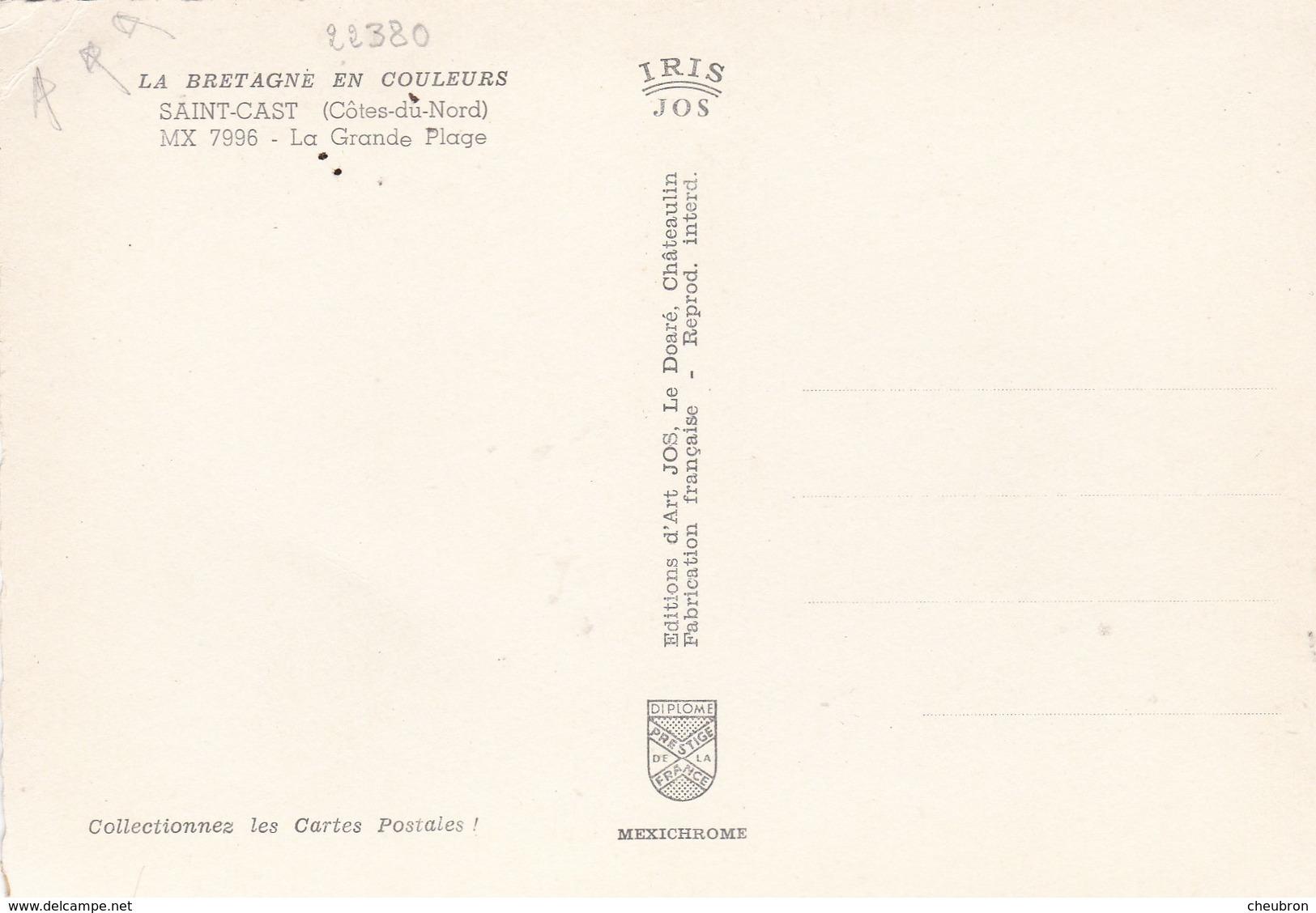 22. SAINT CAST. CPSM. LA GRANDE PLAGE. ANIMATION - Saint-Cast-le-Guildo
