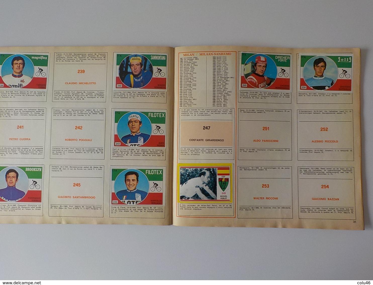 1973 Cyclisme Album Panini Sprint 73 Eddy Merckx Radfahren Wielrijder Chromos - Cyclisme