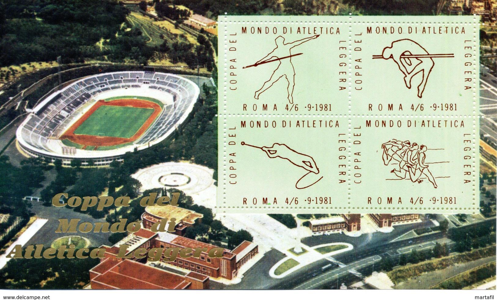 ERINNOFILIA / Coppa Del Mondo Di Atletica Leggera 1981 - Erinnofilia