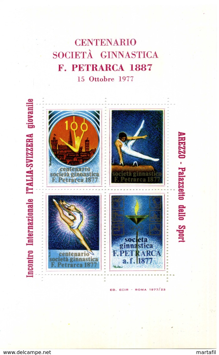 ERINNOFILIA / Centenario Società Ginnastica F. Petrarca 1887/1977 - Erinnofilia