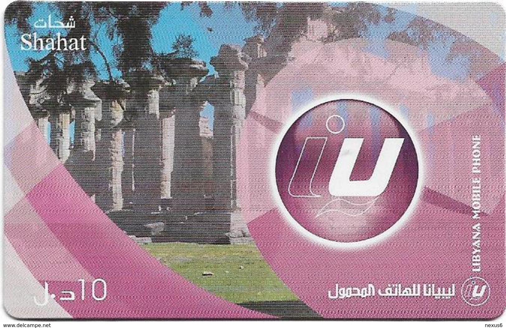 Libya - Libyana - Shahat, 10LD Prepaid Card, Used - Libya