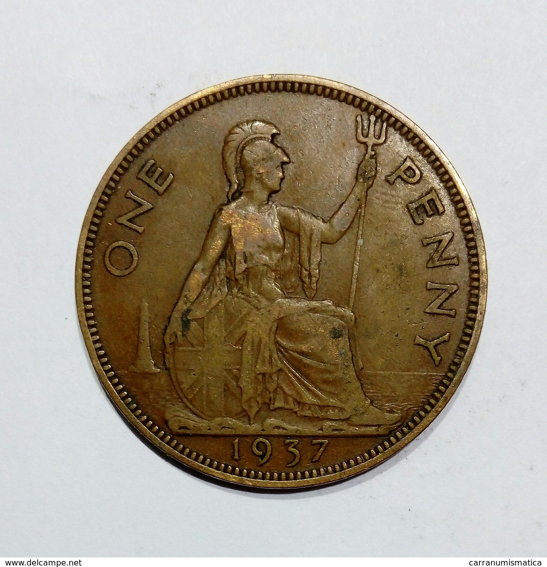GREAT BRITAIN / GRAN BRETAGNA - One Penny ( 1937 ) GEORGE VI - D. 1 Penny