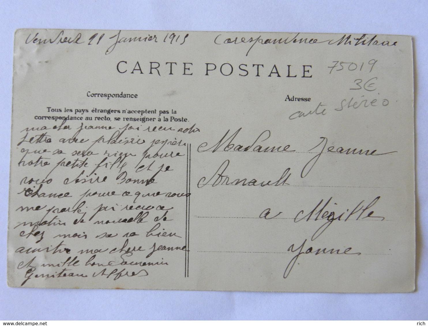 CPA  75019 PARIS - Vues Stéréoscopiques Julien Damoy - Sortie Des Bambins Du XIX Arrondissement - Cate Stéréo - Arrondissement: 19