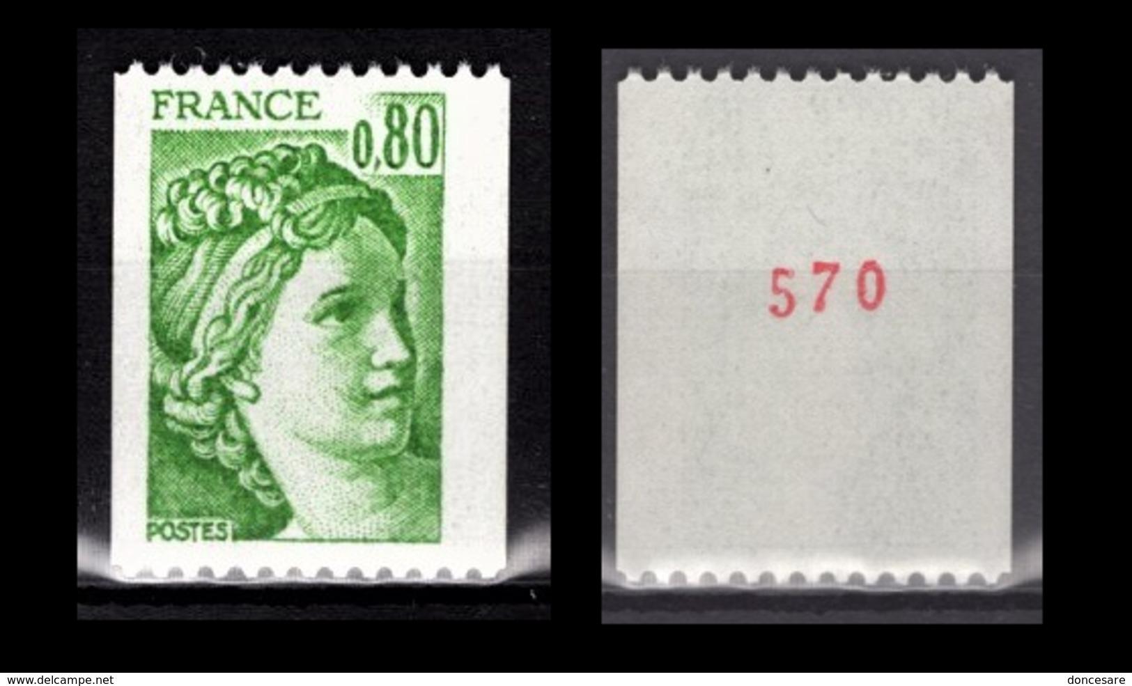 FRANCE 1978 -  Y.T. N° 1980 - NEUF** / CHIFFRE - Frankreich