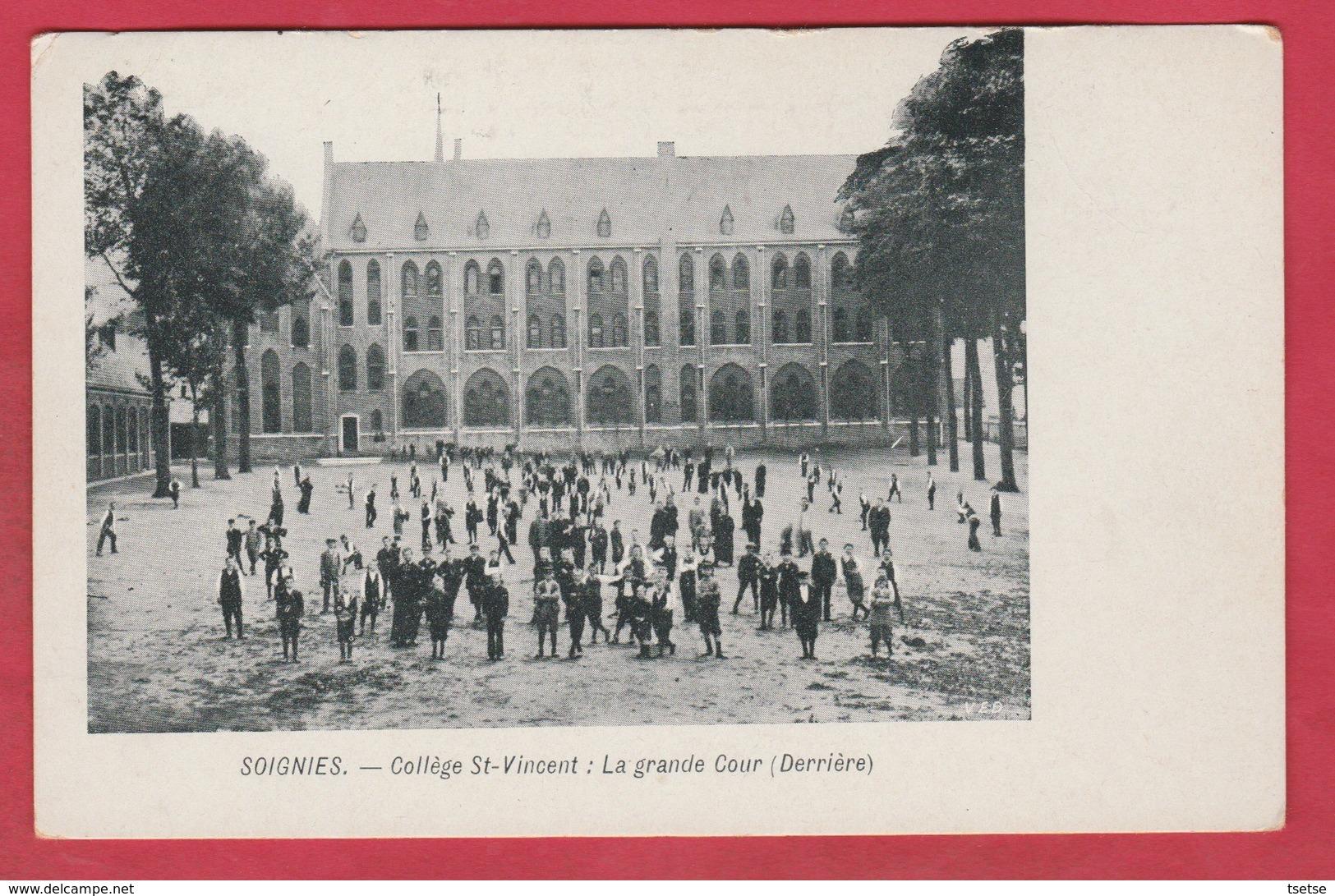 Soignies - Collège St-Vincent: La Grande Cour ... Derrière ( Voir Verso ) - Soignies