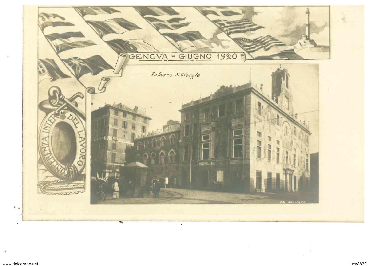 GENOVA CONFERENZA DEL LAVORO 1920 - Genova (Genoa)