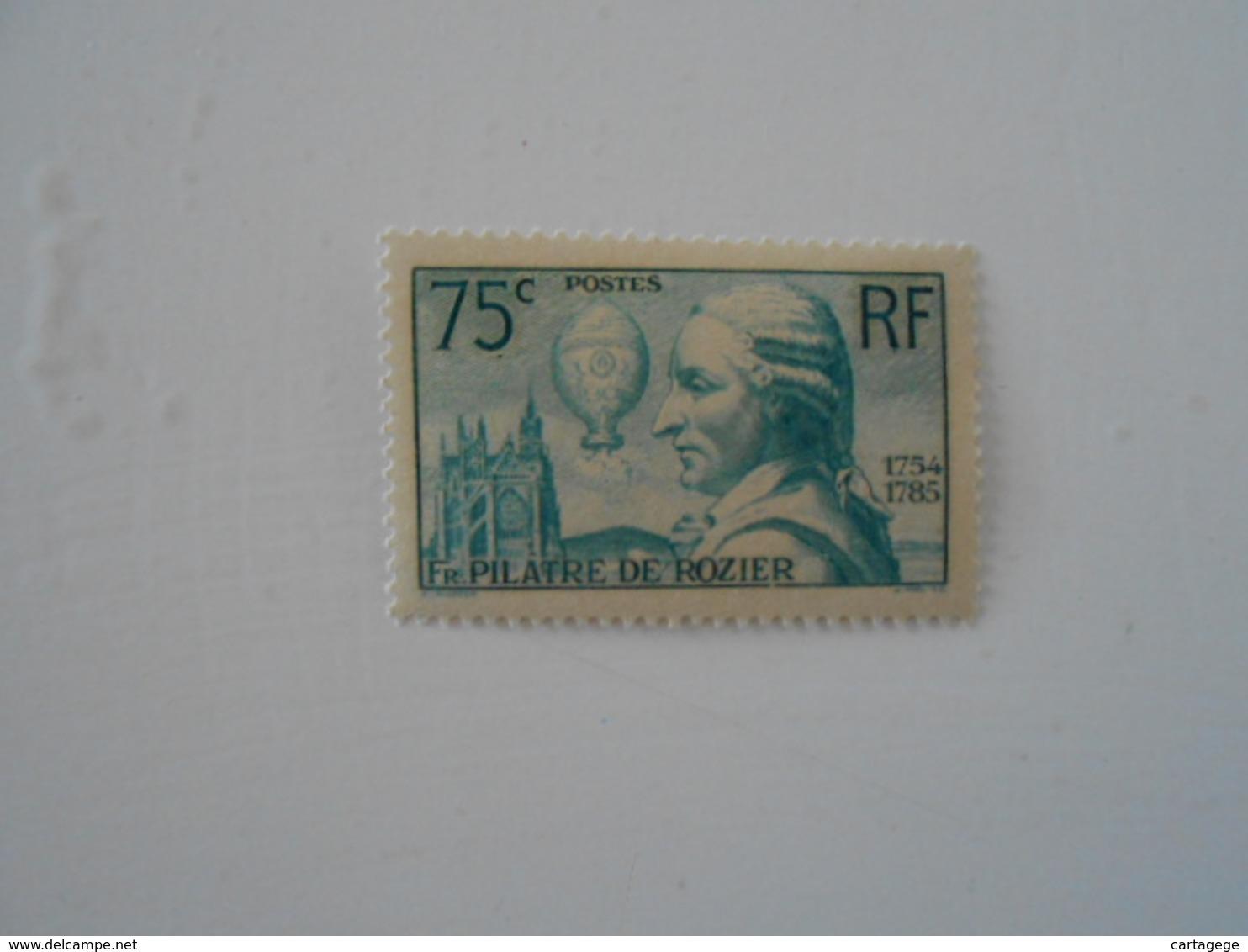 FRANCE YT313 PILATRE DE ROZIER** - Unused Stamps