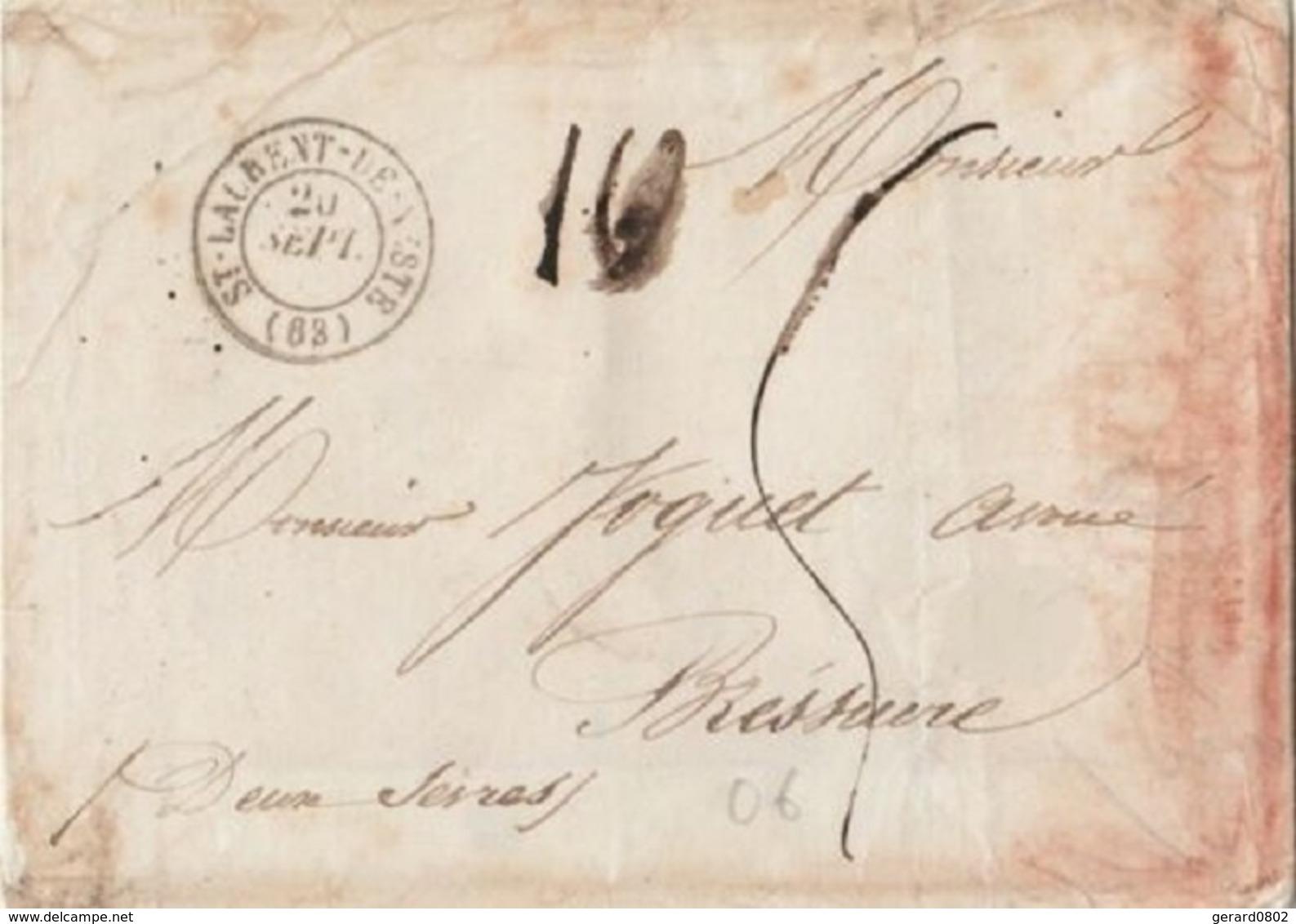 HAUTE PYRENEES - LETTRE DE ST LAURENT DE NESTE POUR BRESSUIRE - 1850 - 1801-1848: Précurseurs XIX