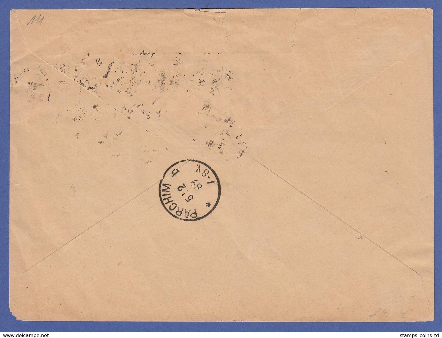 Dt. Reich 10 Pfennig Mi.-Nr. 41 Per 3 Auf NN-Brief Von Schwerin -> Parchim, 1889 - Deutschland