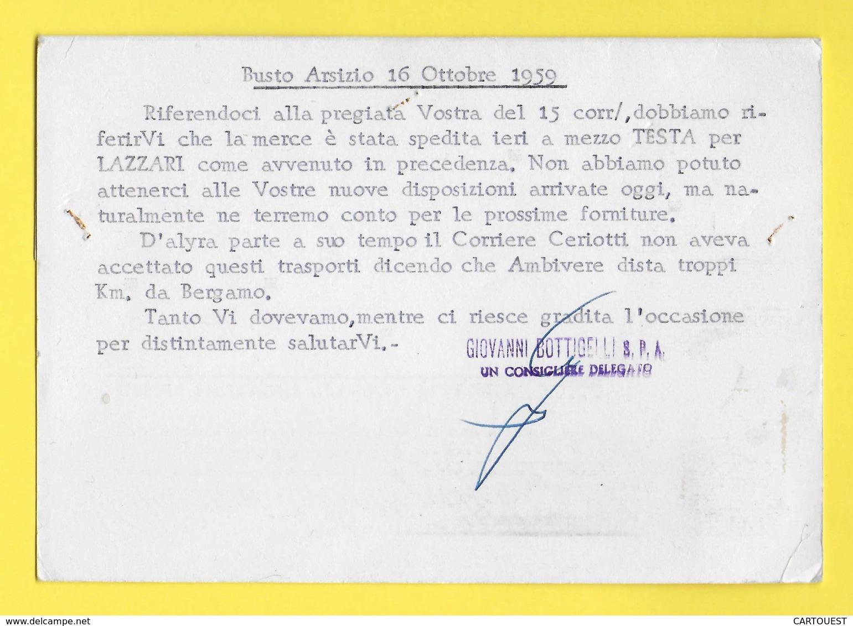 """BERGAMO RESINE SINTETICHE """" PLABO - PLABOTEX """" ֎ 1959 - Italie"""