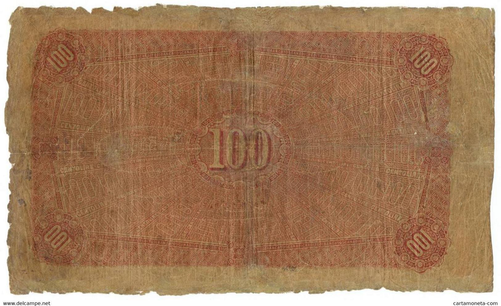 100 LIRE BANCA TOSCANA DI CREDITO FIRENZE II TIPO 02/01/1880 MB/BB - [ 1] …-1946 : Regno