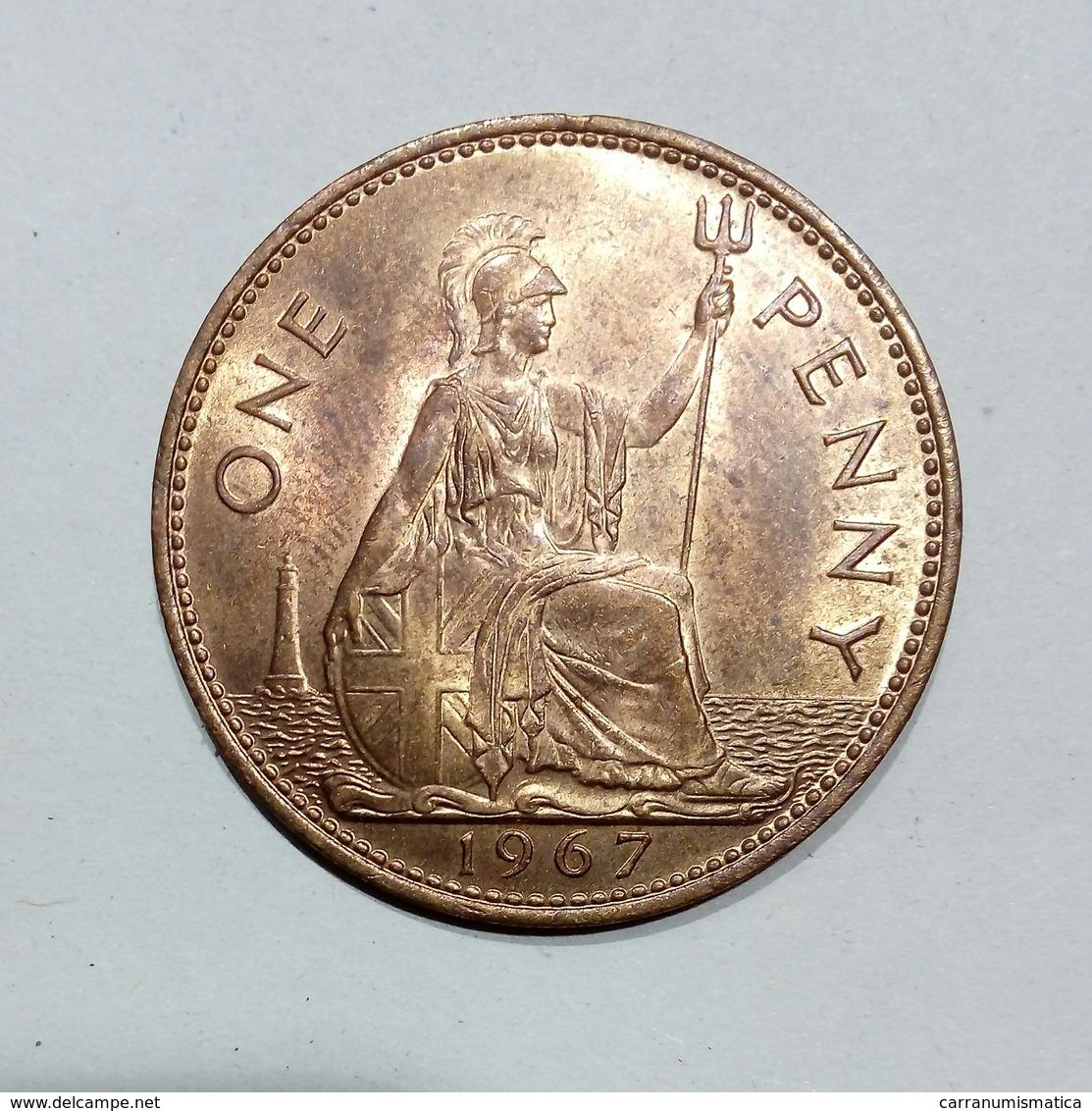GREAT BRITAIN / GRAN BRETAGNA - One Penny ( 1967 ) Elizabeth II - 1902-1971 : Monete Post-Vittoriane