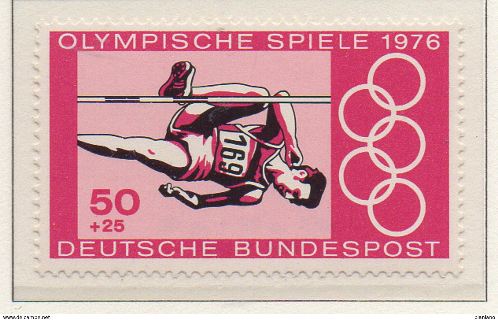 PIA - GERMANIA  - 1976  : Giochi Olimpici Di Montreal  -  (Yv  736-37) - Estate 1976: Montreal