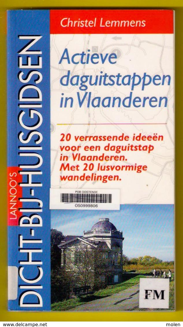 WANDEL-BOEK 20 ACTIEVE DAGUITSTAPPEN 20 Wandelingen In Lusvorm InVlaanderen ©1997 165blz LANNOO Wandelen Wandelaar Z189 - Praktisch