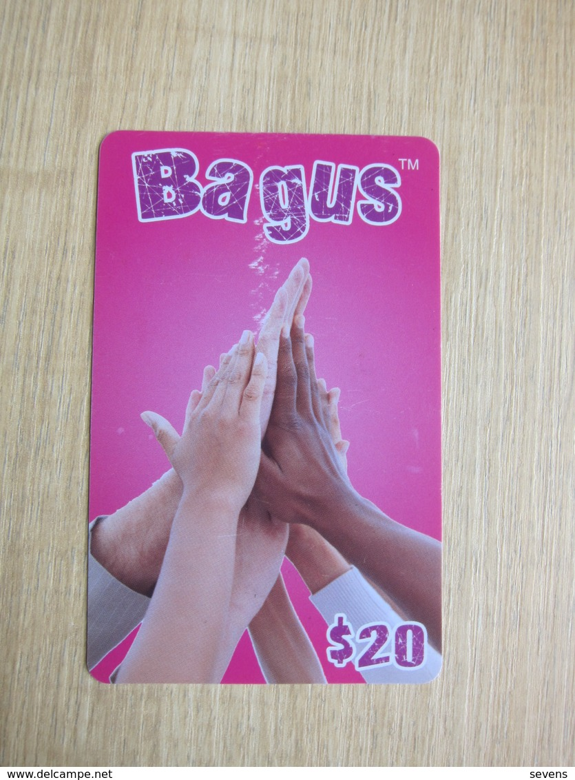 Prepaid Phonecard, Call To Indonesia Only,Bagus, Hands, With A Little Scratch - Hong Kong