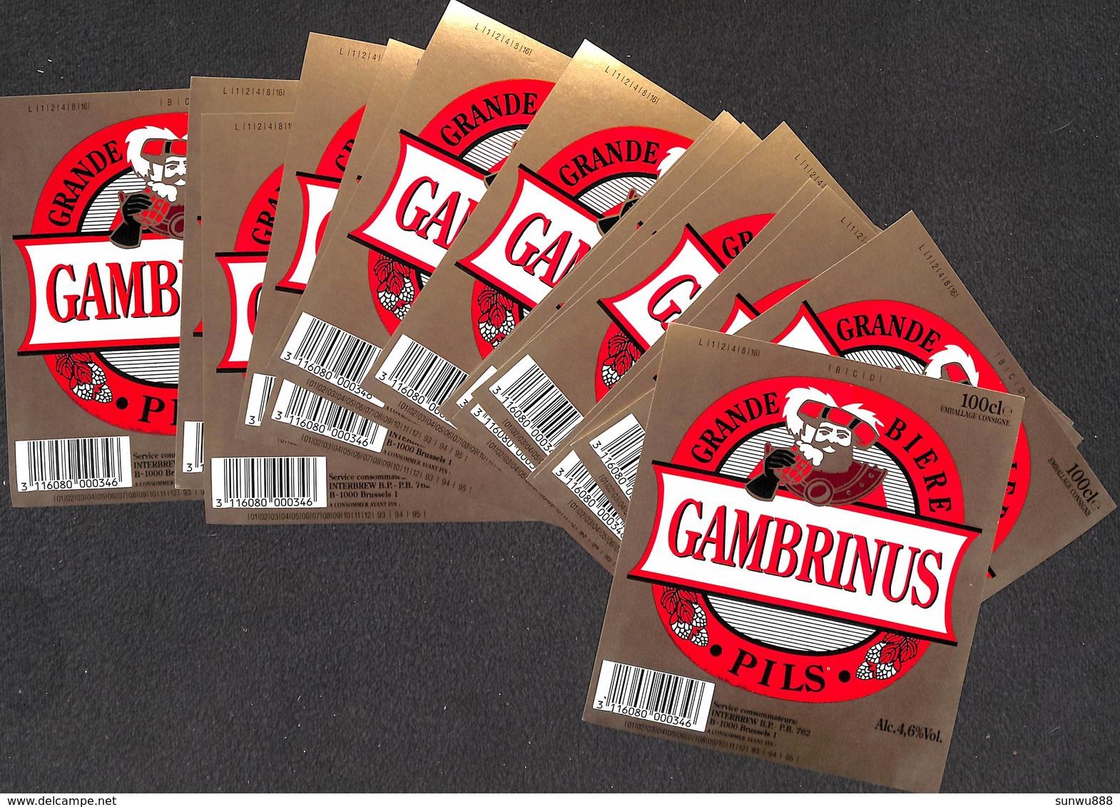 Lot 15 Etiquettes Grande Bière Gambrinus Pils - Beer