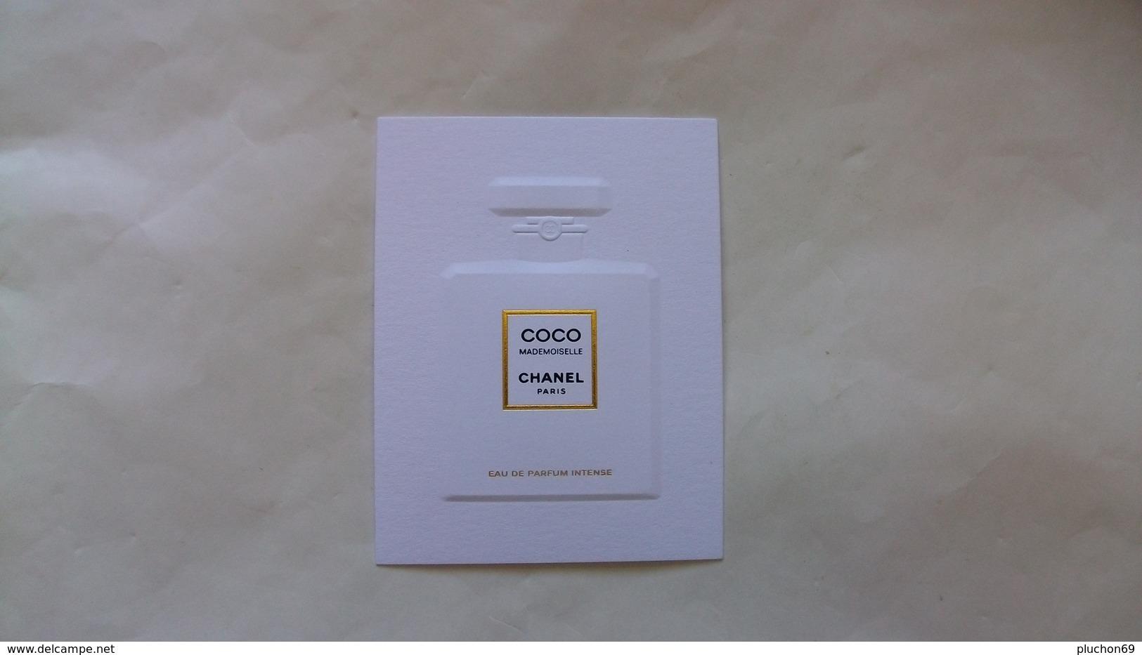 Carte Parfumée Chanel Coco Mademoiselle Relief Eau De Parfum Intense - Modern (from 1961)