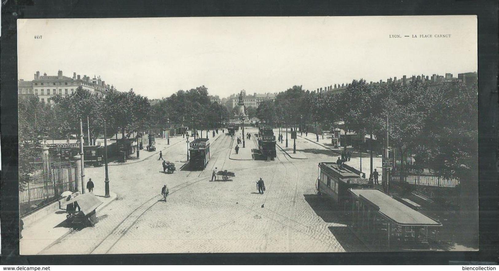 Rhône. Lyon , Carte Panoramique 27cm X 14cm , La Place Carnot - Lyon