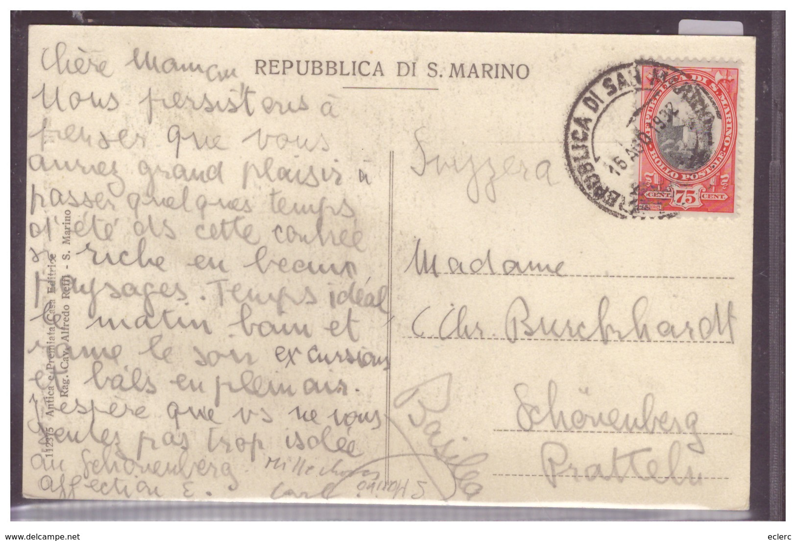 SAN MARINO - COSTUME DEI CAPITANI REGGENTI - TB - San Marino