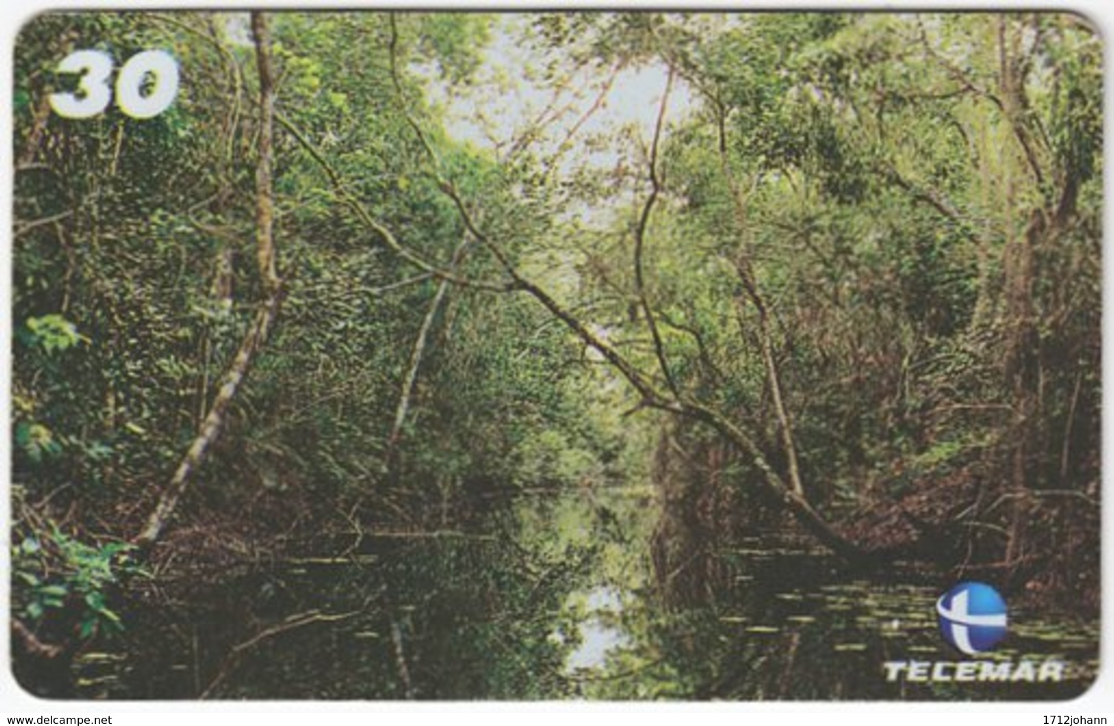 BRASIL I-729 Magnetic Telemar - Landscape, Mangroves - Used - Brasilien