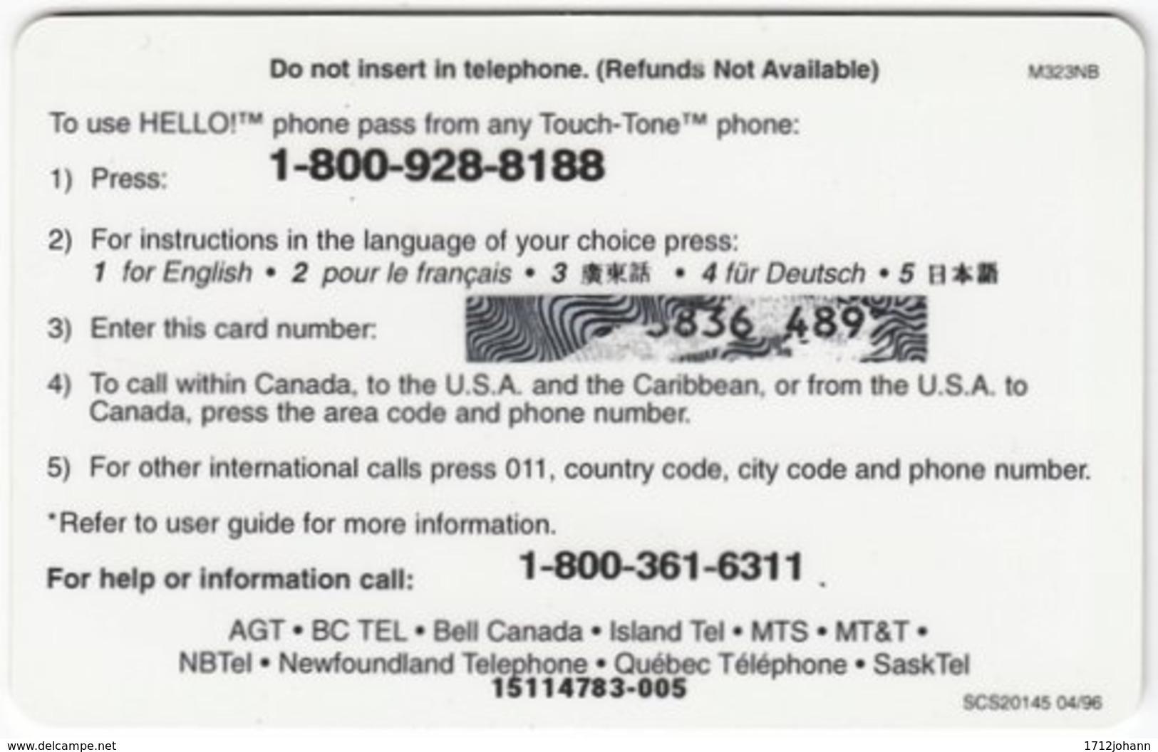 CANADA A-443 Prepaid AGT - Culture, Native People - Used - Canada