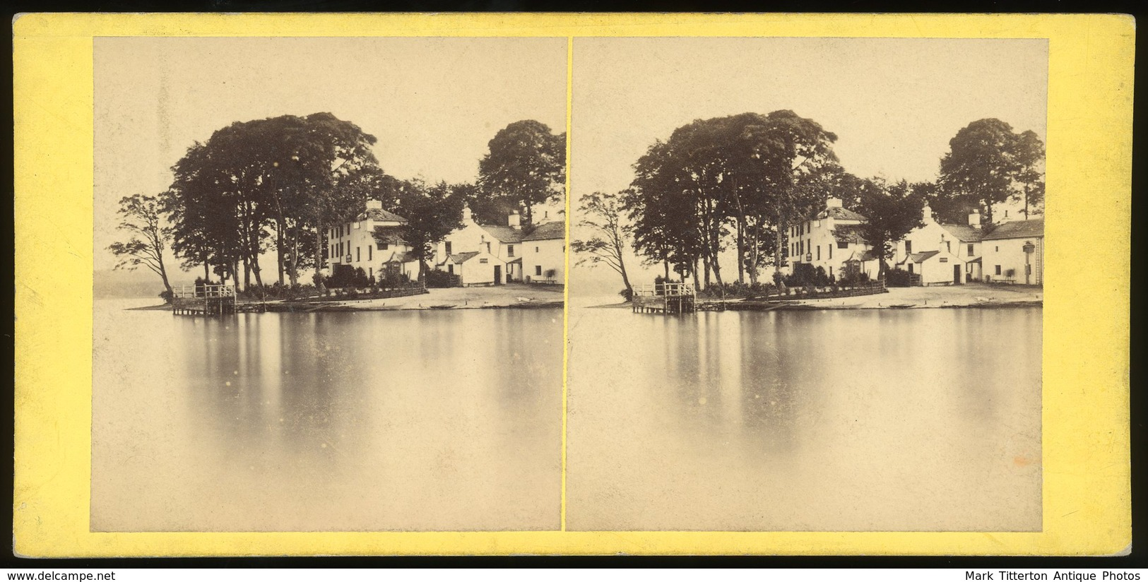 Stereoview - The Ferry Hotel, Windermere ENGLISH LAKES - Stereoscopi