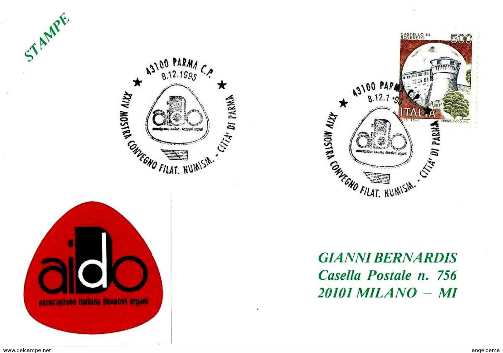 ITALIA - 1995 PARMA XXIV Convegno Associazione Italiana Donatori Organi AIDO - 1741 - Salute