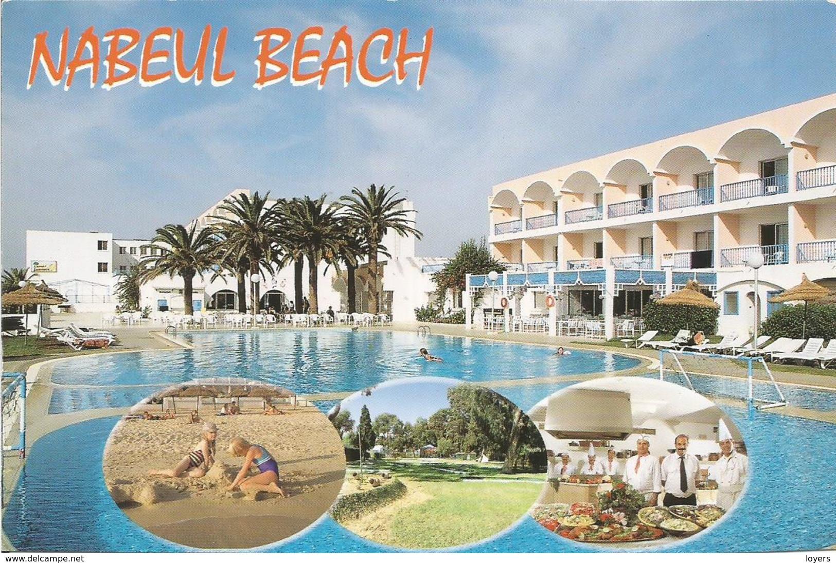 HOTEL NABEUL BEACH - NABEUL. (scan Verso) - Tunisie