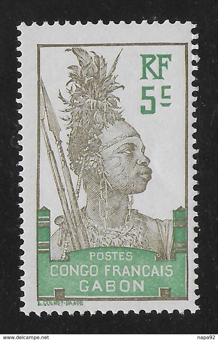 GABON 1910 YT 36** NEUF SANS CHARNIERE - TTB - MNH - Gabon (1886-1936)