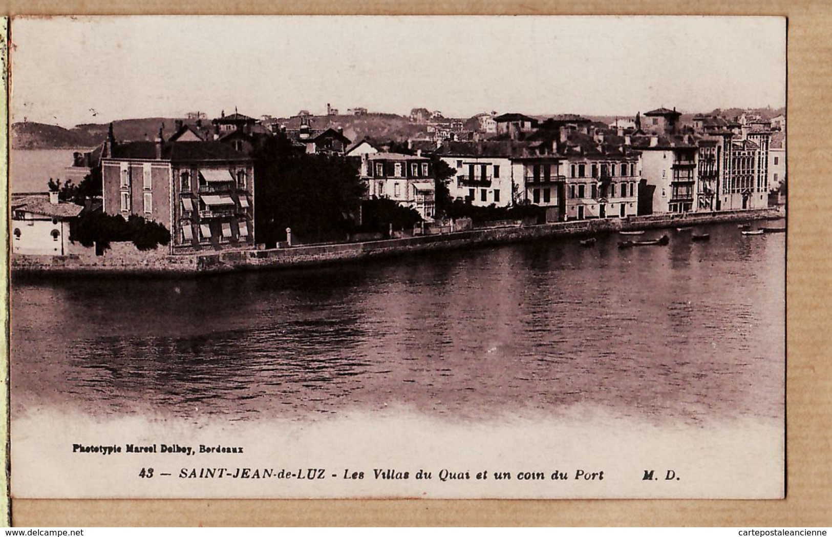 X64267 Saint JEAN De LUZ Villa Quai Coin Port 1920s Basses Pyrénées Côte Basque DELBOY 43 - Saint Jean De Luz