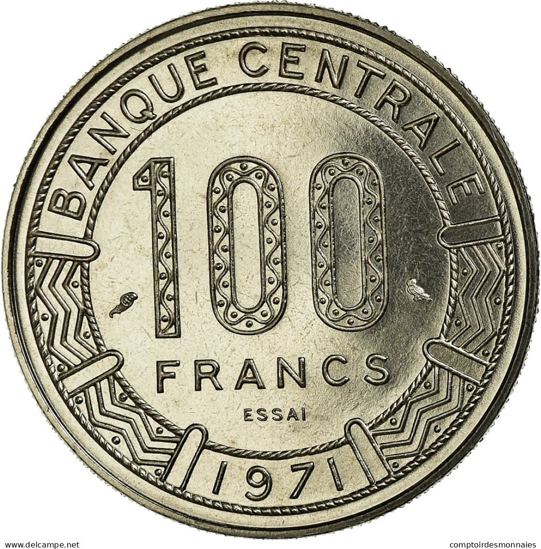 Monnaie, Chad, 100 Francs, 1971, Paris, ESSAI, FDC, Nickel, KM:E3 - Tsjaad