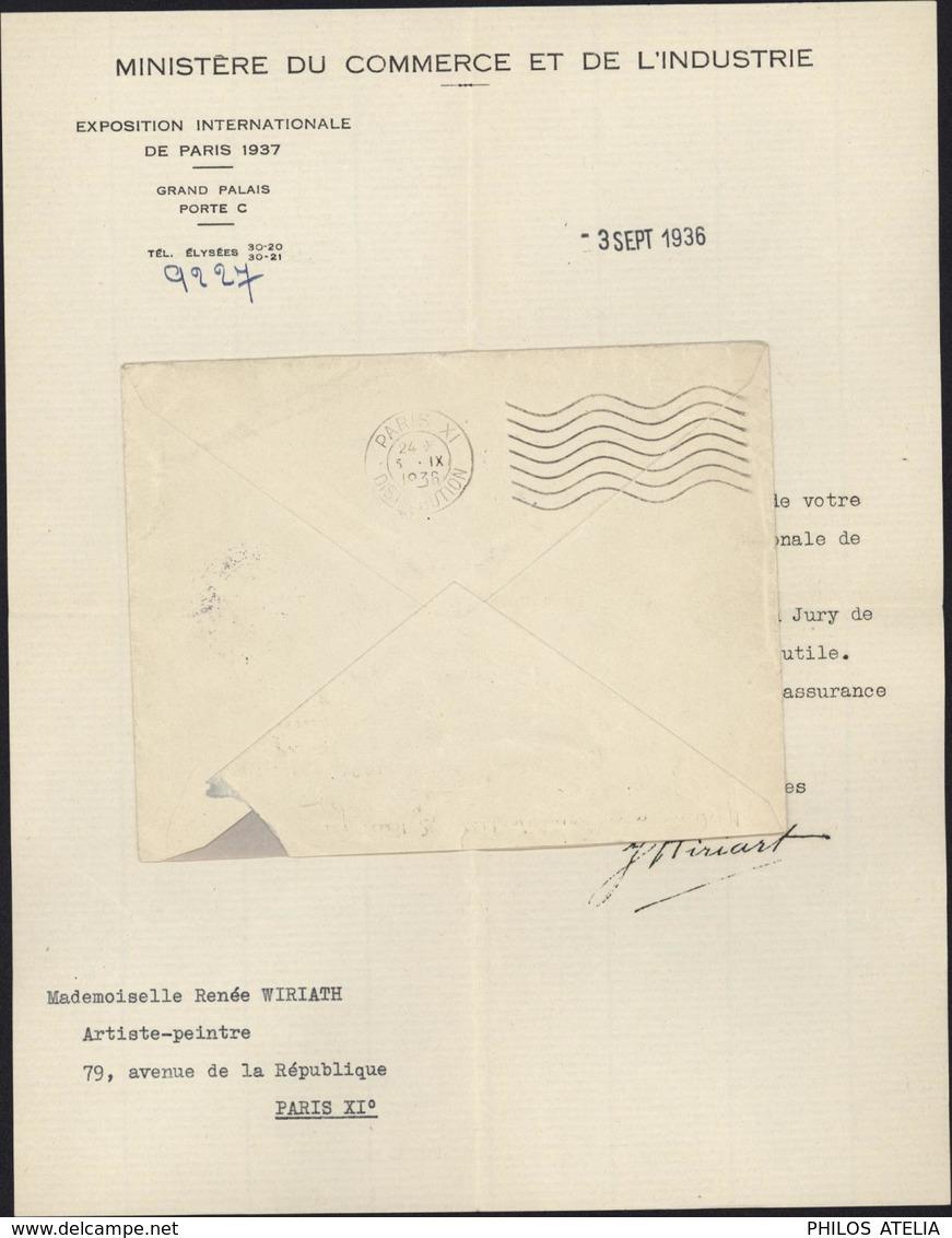 Ministère Commerce Industrie Exposition Internationale Paris 1937 EMA Machine Affranchir C 0724 - Marcophilie (Lettres)