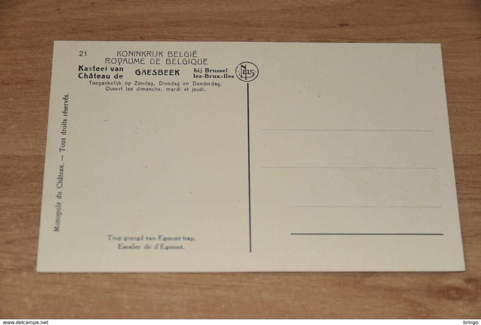 11251-   CHATEAU DE GAESBEEK, ESCALIER DIT D'EGMONT - Lennik