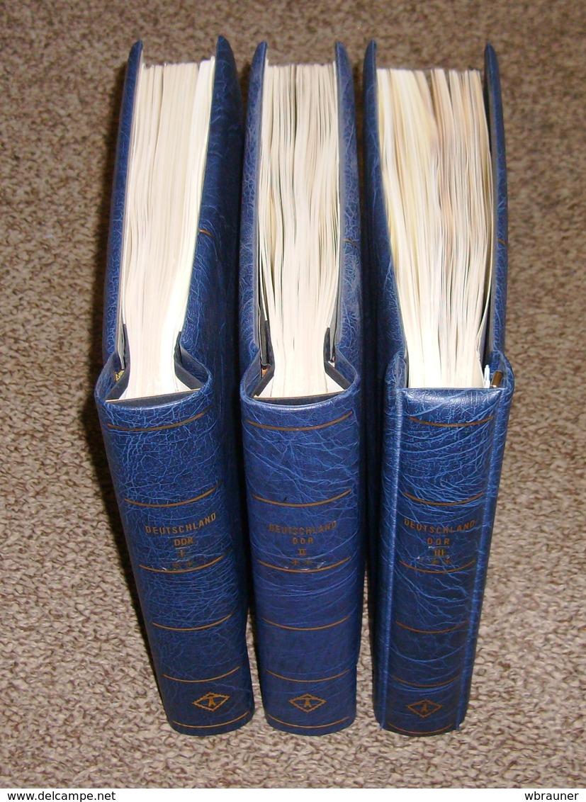 DDR Leuchtturm SF Vordruckblätter 1949 - 1990 Komplett In 3 Leuchtturm Bindern  NP über 900,- Euro - Alben & Binder