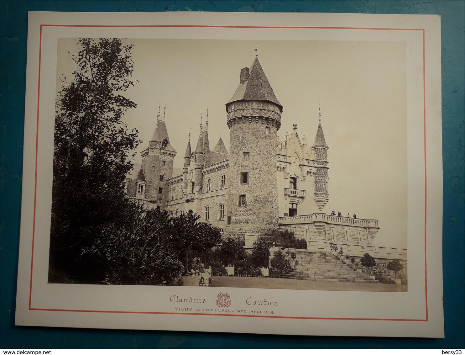 VICHY Et Ses Environs - CHATEAU DE BUSSET (Côté Est) -  Photographie Ancienne Albuminée De Claudius Couton - Photos