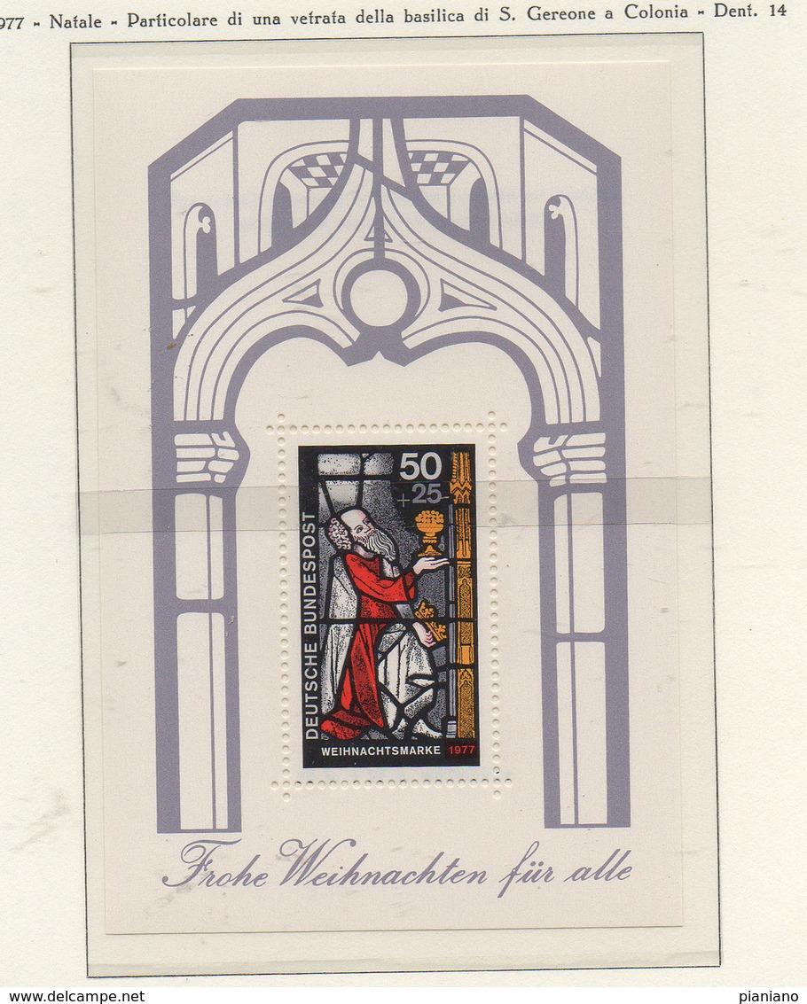 PIA - GERMANIA -1977 : Natale - Particolare Di Una Vetrata Della Basilica Di S. Gereone A Colonia   - (Yv  Bf 14) - Vetri & Vetrate