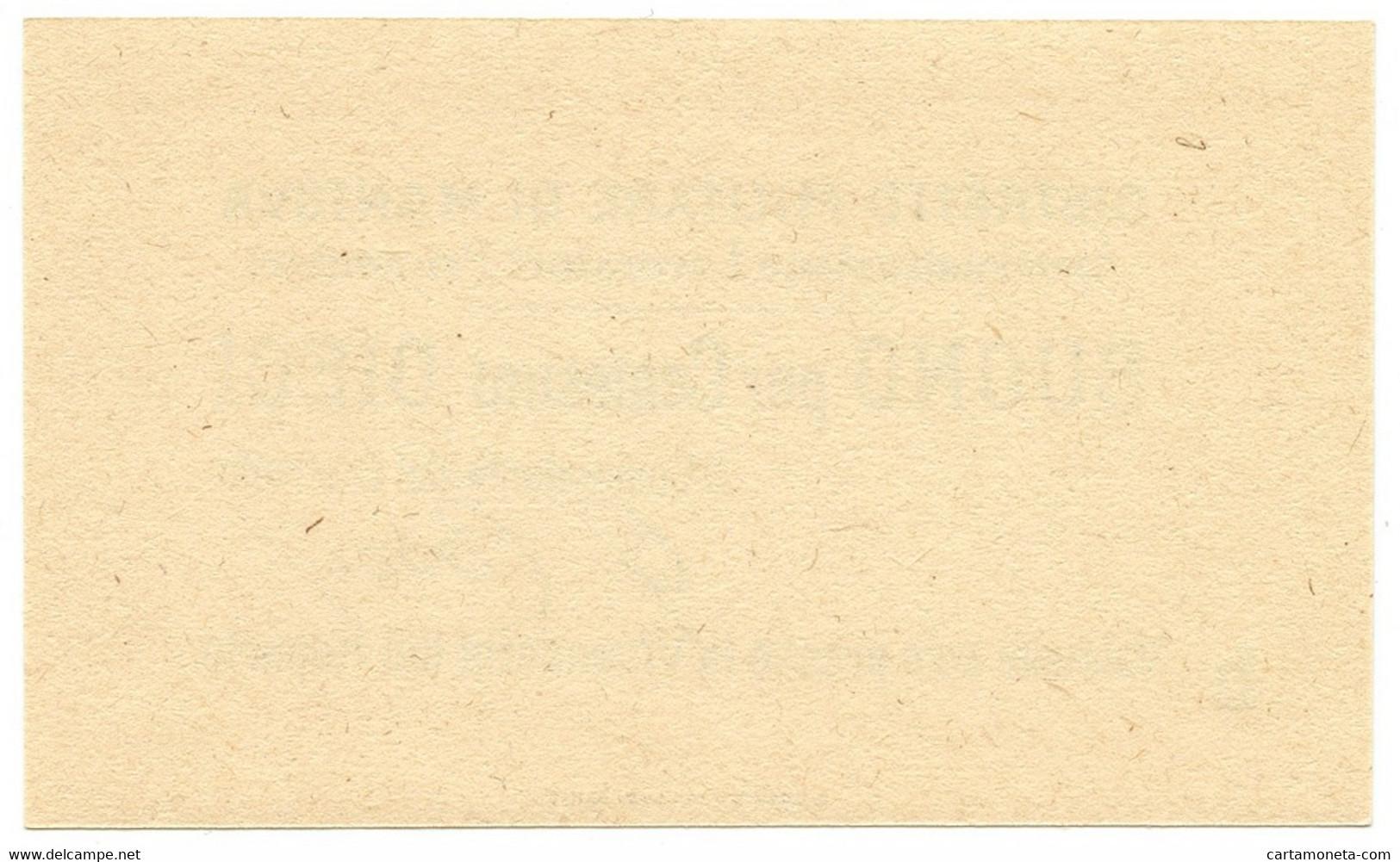 10 CENTESIMI NON EMESSO DISTRETTO MILITARE DI MANTOVA PRIGIONIERI FDS - [ 1] …-1946 : Regno
